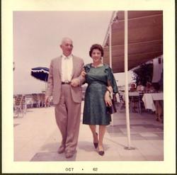 John and Magda Koppel -- 1962, Hotel Humboldt, Playas