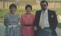 From left_  Katja Lindenberg (nee Sifnaghel), Gerda Sifnaghel Anders (nee Gumpel) & Niko Shefer (ne