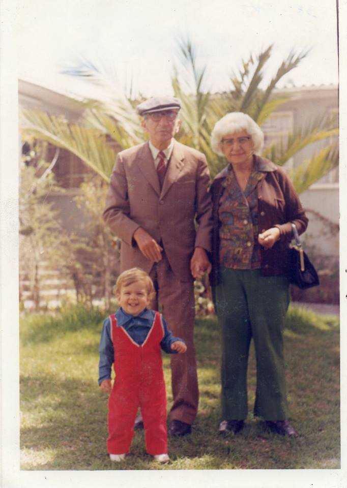 From Margo Kywi (March 30, 2014)_ David Kywi, with his great grandparents, Oma-Sichl and Opa-Wagman.
