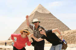 From left_  Marilyn (nee Prooth), Ralph & Emily Grunewald -- 2008, Cairo, Egypt