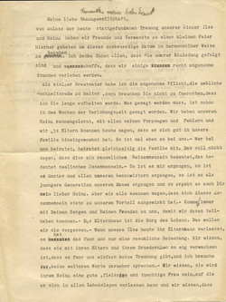 John Koppel's remarks (father of Ilse Grunewald) at wedding of Ilse Koppel & Heinz Grunewald -- Oct.