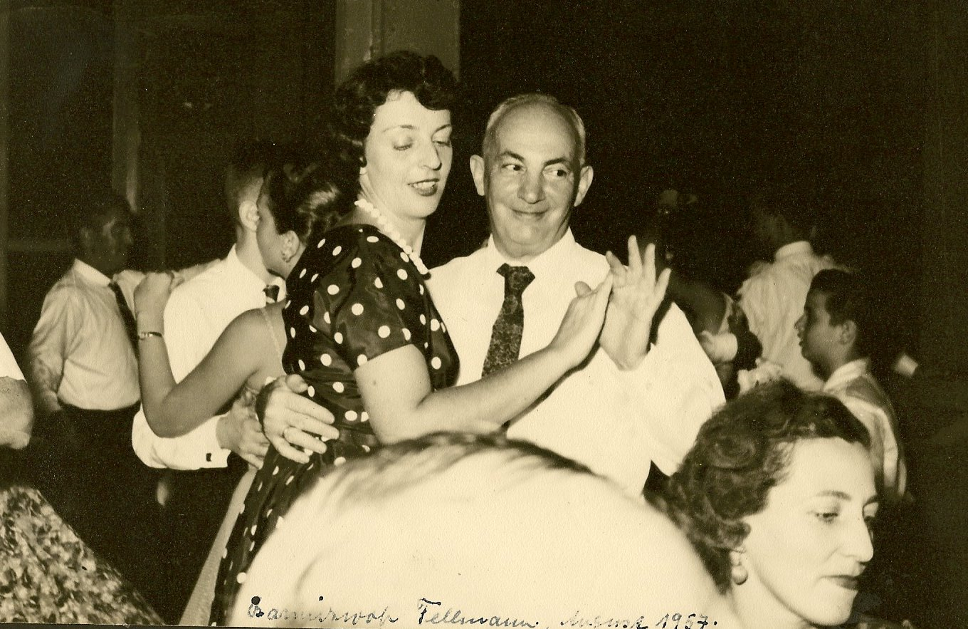 Ilse Grunewald (nee Koppel) and father, John Koppel _ Fellmann Bar Mitzvah -- 1957, Guayaquil