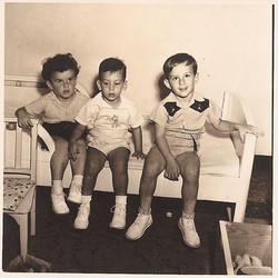 The three musketeers sitting on my bed_ Niko Sifnaghel, Peter Albers &  Freddy Grunewald.  My second