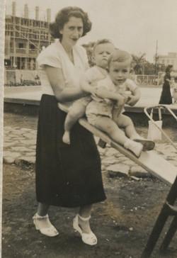 Gerda Sifnaghel with her son, NIko and Fred Grunewald -- ca.jpg