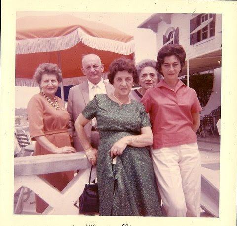 From left_   Else Wellisch (nee Deller), John Koppel, Magda (Moschi) Koppel (nee Partos), Elisabeth