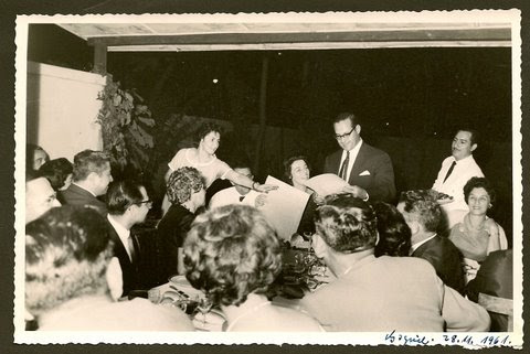 Going-away party for Heinz & Ilse Grunewald (nee Koppel) -- Centro Israelita -- November 28, 1961, G