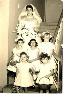 Matrimonio Rama y Moshe Rubin; y Vivi, Peggy, Nelly, Sonia, Nury, Monica, Susan Albers, Ruth Stern