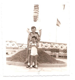 Playas -- Father, me, and Michael ca.jpg 1960 (one of our last visits to Playas).jpg