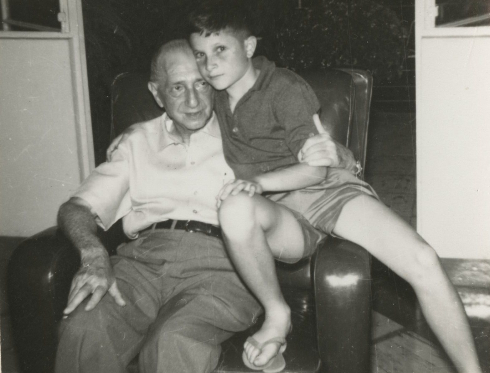 Gustav Gumpel and grandson, Jerry Gumpel
