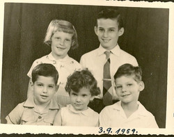 Cousins (top from L - R)_  Peggy Grunewald & Fred Grunewald (bottom from L - R)_  Ralph Grunewald, J
