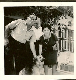 From left_ Manea Sifnaghlel and John and Magda Koppel -- 1962