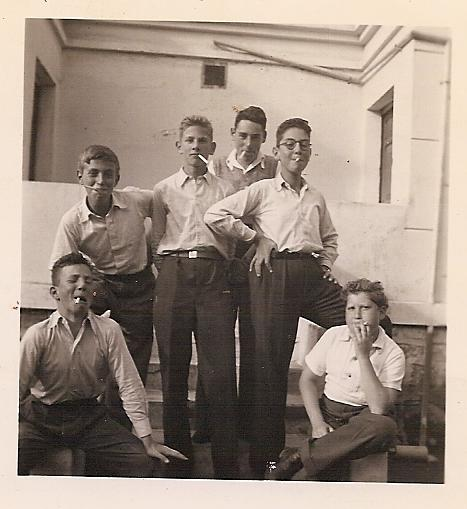 Luis W. Levy's  birthday -- 1943, Quito.  Back row_ Elio Schaechter, Werner Levy, Lutz Nadelmann, He