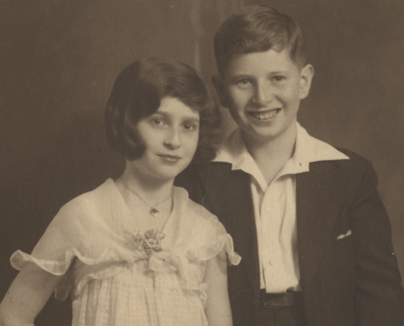 Gerda and Erwin Gumpel at Erwin's Bar Mitzvah -- 1933, Hamburg, Germany