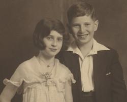 Gerda and Erwin Gumpel at Erwin's Bar Mitzvah -- 1933, Hamburg, Germany