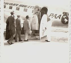 Elio Schaechter leaving Ecuador -- January 1950