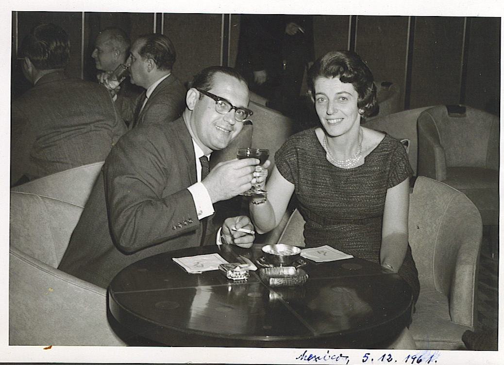 Heinz and Ilse Grunewald (nee Koppel) -- December 1961, Mexico City