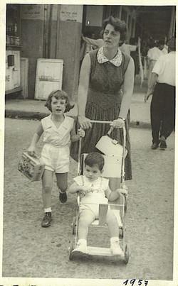 Peggy Grunewald, Ilse Grunewald (nee Koppel) and Ralph Grunewald -- 1957, Guayaquil