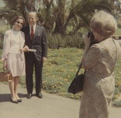 Dita (nee Ginsberg) and Erwin Gumpel being photographed by Lieschen Gumpel (nee Partos)