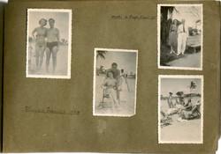 Ilse Grunewald (nee Koppel) Collection_ Playas -- February 1948, with her husband, Heinz Grunewald a