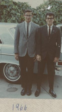 Fred Grunewald and Niko Sifnaghel -- 1966, Chula Vista, CA