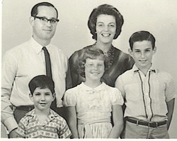 The Grunewald Family on the eve of its immigration from Ecuador to San Diego, CA, in the United Stat