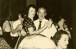 Ilse Grunewald (nee Koppel) and father, John Koppel _ Fellmann Bar Mitzvah -- 1957, Guayaquil