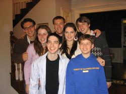 Cousins -- Back row (L - R)_  Daniel Ratner, Eric Ratner & Adam Grunewald;  Middle row (L - R)_  Mad