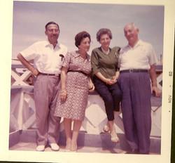 From left_  Ernst Wellisch, Magda (Moschi) Koppel (nee Partos), Else Wellisch (nee Deller), and John