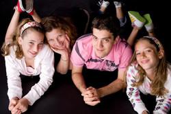 From left_  Arielle Davidow, Jeanny Davidow (nee Koppel), Daniel Davidow & Zoe Davidow -- 2009, Los