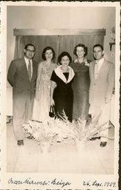 From left_ Heinz Grunewald, Edith Koppel (nee Wellisch), Magda Koppel (nee Partos), Ilse Grunewald (