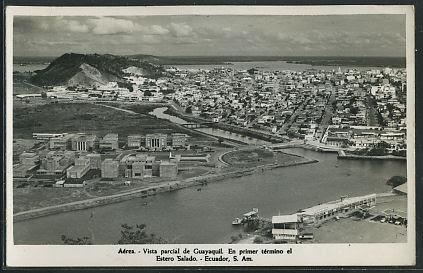 Guayaquil -- Vista parcial de Guayaquil.jpg  En primer termino el Estero Salado.jpg