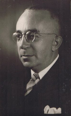The official photograph of my father after he was appointed to be the President of the Jewish Commun