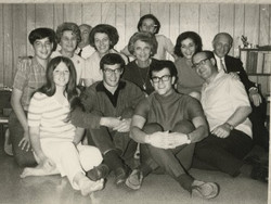 Back row, left to right_ Ralph Grunewald, Magda (Moschi) Koppel (nee Partos), John (Aki) oppel (hidd