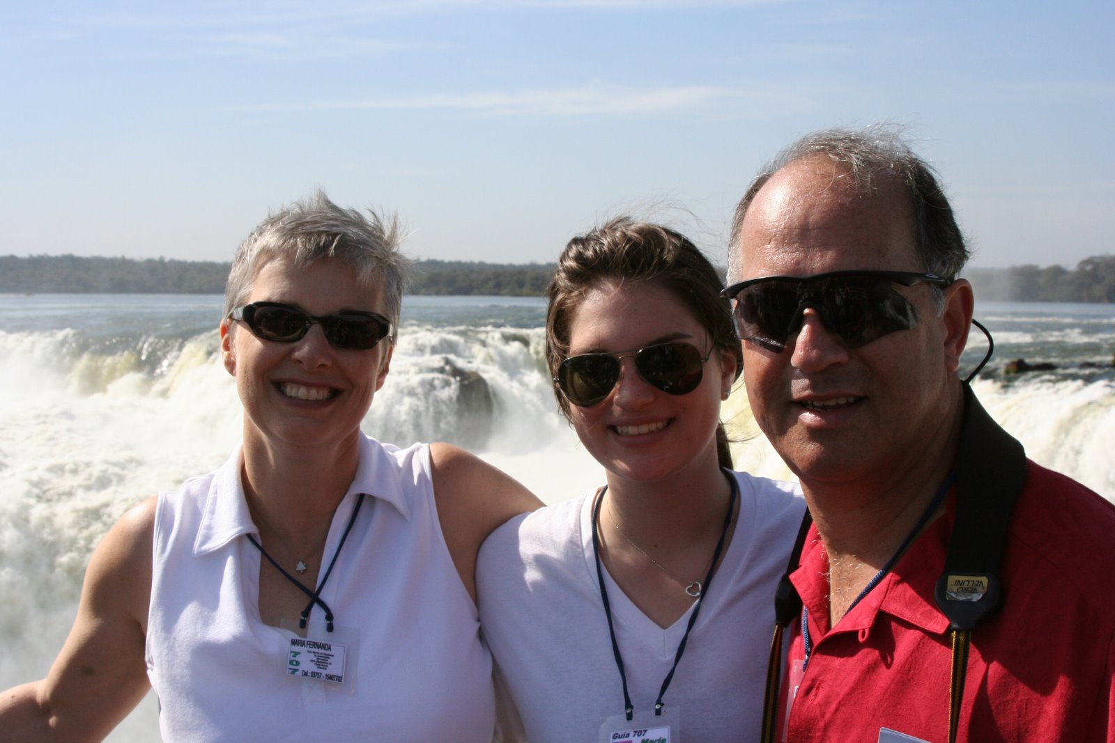 From left_  Marilyn (nee Prooth), Emily & Ralph Grunewald -- 2007, Iguazu Falls, Argentina
