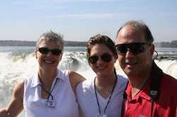 From left_  Marilyn (nee Prooth), Emily & Ralph Grunewald -- 2007, Iguazu Falls, Argentina
