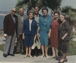 From left_ Gustav (Guschi) Gumpel, John (Aki) Koppel, Magda (Moschi) Koppel (nee Partos), Heinz Grun