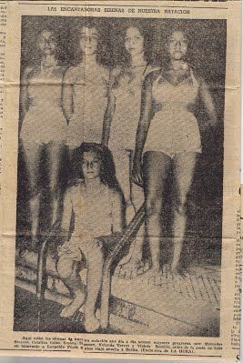 Photo of her swim team (July 11, 1951)