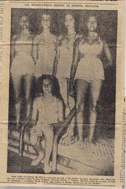 Photo of her swim team (July 11, 1951)