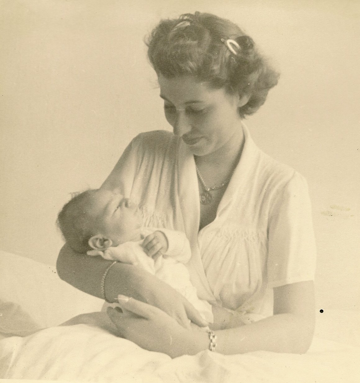 Edith Koppel (nee Wellisch) & son, Tom -- 1953, Guayaquil
