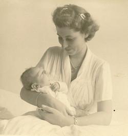 Edith Koppel (nee Wellisch) & son, Tom -- 1953, Guayaquil