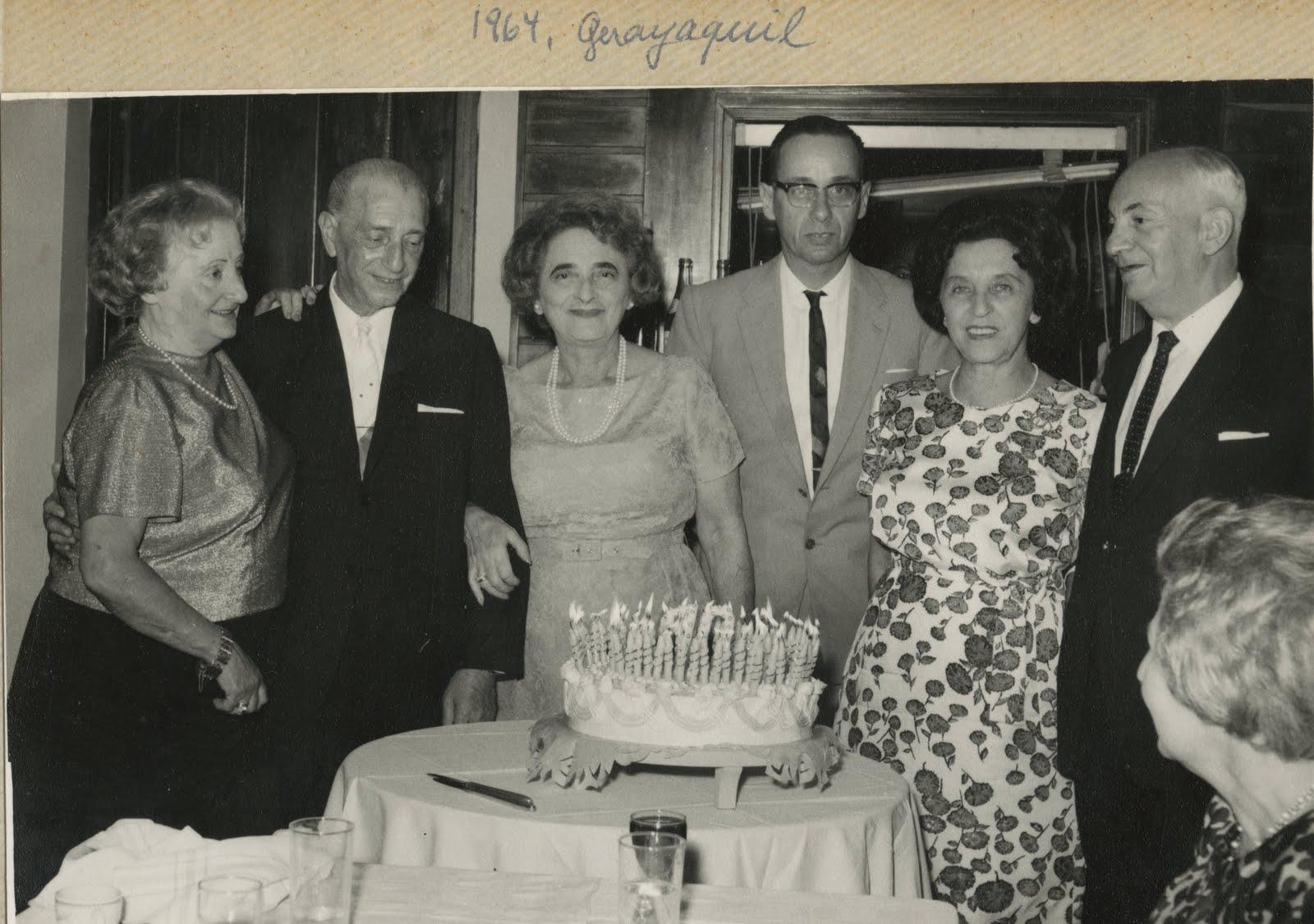 From left_ Margot Braasch (nee Partos), Gustav Gumpel, Elisabeth (Lieschen) Gumpel (nee Partos), Han