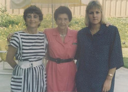 From left_  Katja Lindenberg (nee Sifnaghel), Gerda Sifnaghel Anders (nee Gumpel) & Tania Shefer --