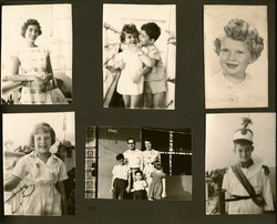 Page from John and Magda (Moschi) Koppel (nee Partos) album with Koppel and Grunewald family members