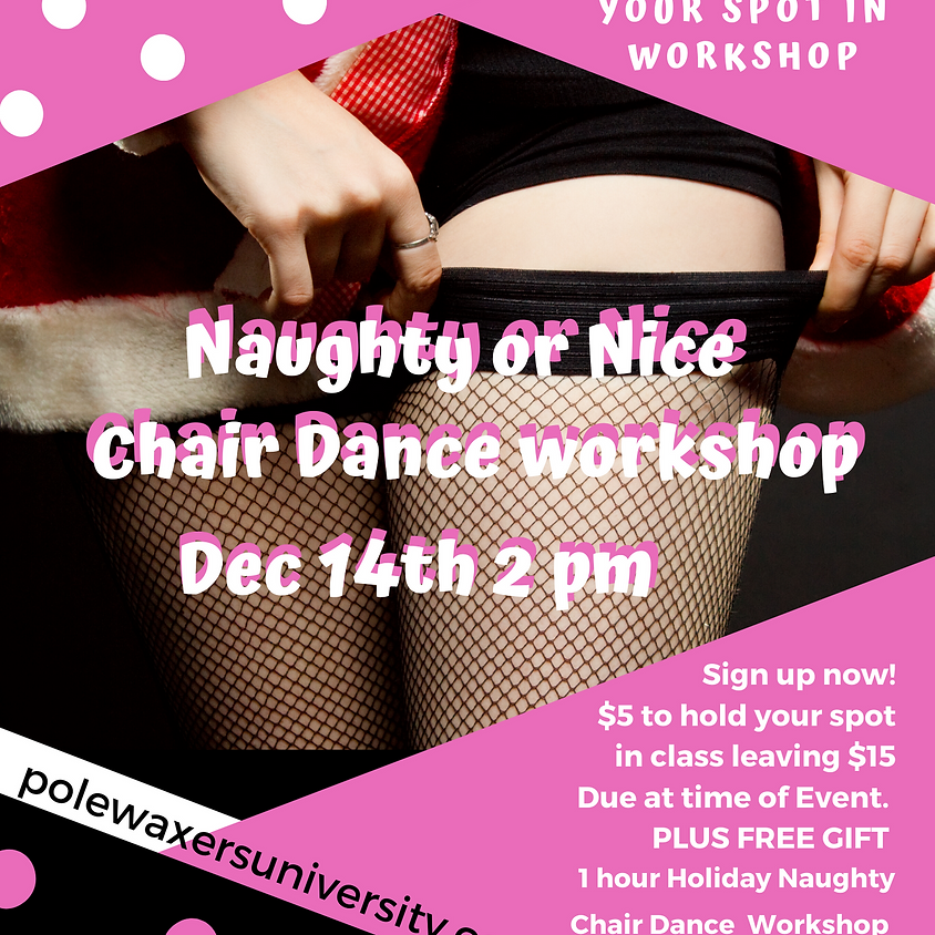 Naughty or Nice Holiday Chair Dance Workshop
