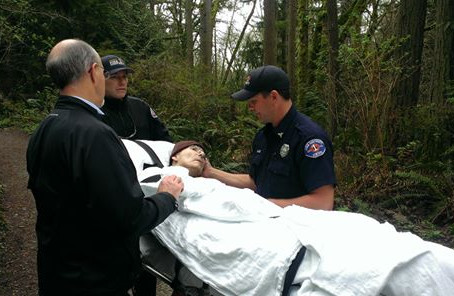 Firefighters Carry Park Ranger's Gurney Through a Forest So He Could Be in Nature One Last time