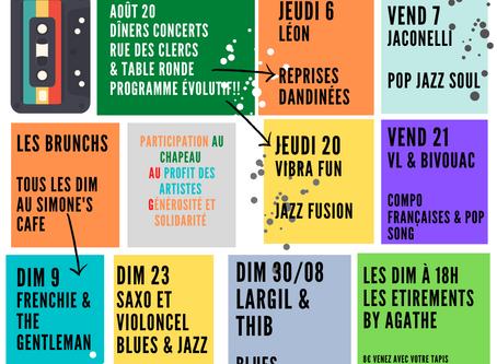 CONCERTS D' AOÛT AVEC LE SIMONE'S CAFÉ