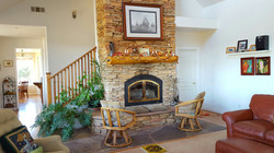 living rm with fireplace