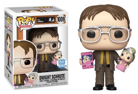 Dwight Schrute w/ Princess Unicorn #1009 - The Office Funko Shop Exclusive
