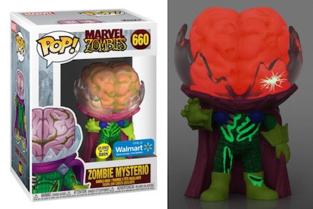 Zombie Mysterio #660 - Marvel Zombies Walmart Exclusive GITD