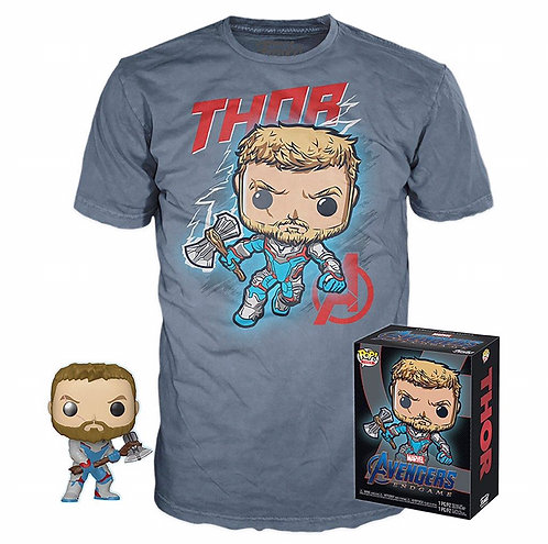 Thor - Avengers Endgame GameStop Pop & T-Shirt Bundle (Large)